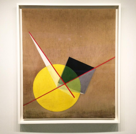 Laszlo Moholy-Nagy, Yellow Circle and Black Square (1921), via Art Observed