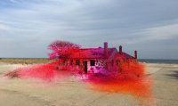 Katharina Grosse's rendering for Fort Tilden, via NYT