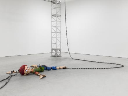 Jordan Wolfson, Colored sculpture (2016)