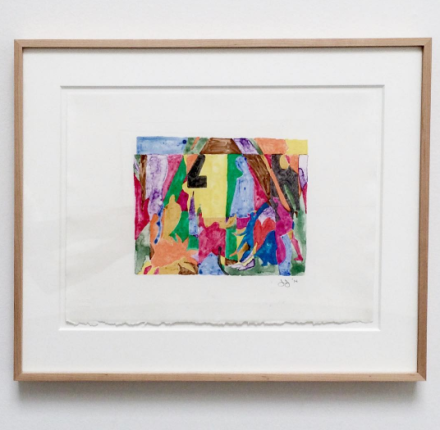 Jasper Johns, Untitled (2014), via Art Observed