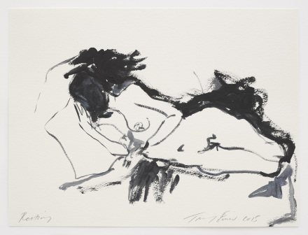 Tracey Emin, Resting, 2015 gouache on paper 8.78 x 11.89 inches