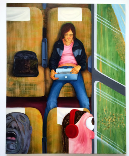 Nicole Eisenman, Weeks on the Train (2015), via Art Observed