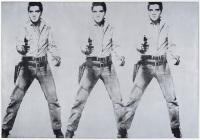 Andy Warhol, Triple Elvis, via SFist