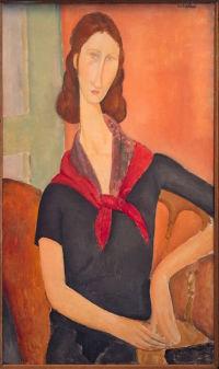 Modigliani portrait of Jeanne Hebuterne , via Art Market Monitor