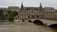 The Seine at record levels, via France 24
