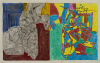 Study for Regrets (2012) by Jasper Johns, via NYT