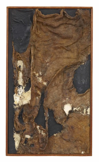 Alberto Burri, Sacco (1956), via Dominique Levy