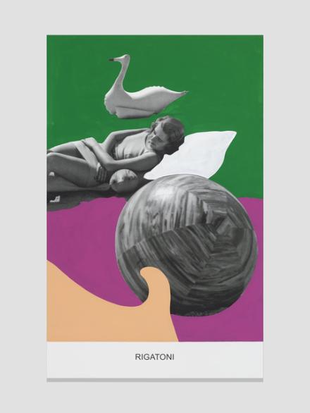 John Baldessari, Rigatoni (2015), via Marian Goodman