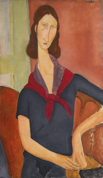 Amedeo Modigliani, Jeanne Hébuterne (au foulard) (1919), via Sotheby's