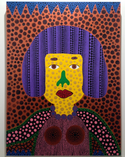 Yayoi Kusama, Self-Portrait (2016), via Andrea Nguyen for Art Observed