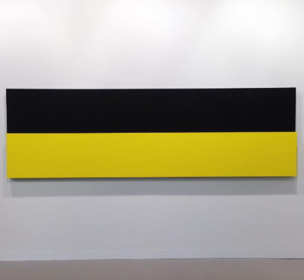 Ellsworth Kelly, Yellow Relief Over Black (2013), via Andrea Nguyen for Art Observed