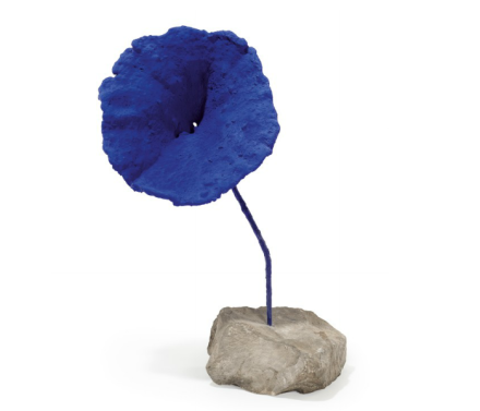 Yves Klein,  Sculpture éponge bleue (SE 284) (1959), via Christie's