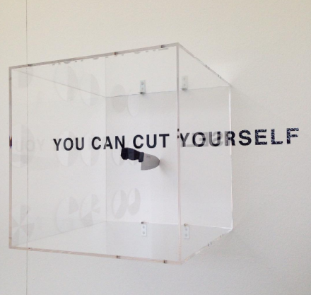 Satoshi Hashimoto, You Can Cut Yourself (2016), via Andrea Nguyen for Art Observed