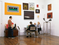David Zwirner and family at his Gallery, via NYT