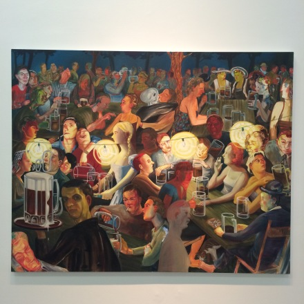Nicole Eisenman, Biergarten at Night (2007), via Art Observed