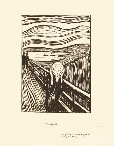 Edvard Munch, The Scream (1895), via Sotheby's