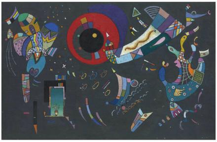 Wassily Kandinsky, Esquisse pour Autour du cercle (1940), via Christie's