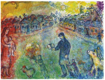 Marc Chagall, Le voyageur  (1980), via Christie's