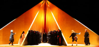 Anish Kapoor's set for Tristan and Isolde, via The Guardian