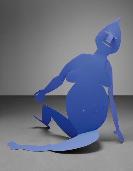 Alexander Calder, Critter Bleue Assise  (1974), via Phillips