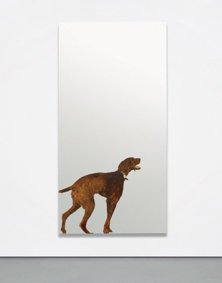 Michelangelo Pistoletto, Violet Dog (1968), via Phillips