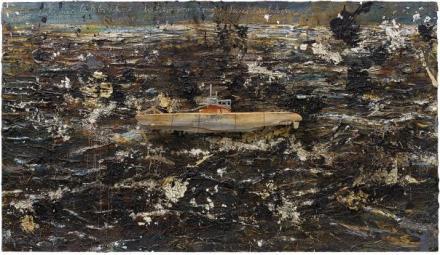 Anselm Kiefer, Fur Velimir Khlebnikov Die Lehre vom Krieg Seeschlachten (2004-2010), via Phillips
