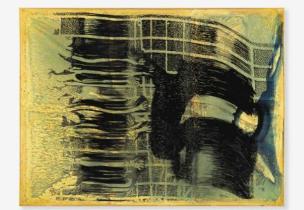 Sigmar Polke, Flucht (blau) (Flight (blue)) (1997), via Christie's