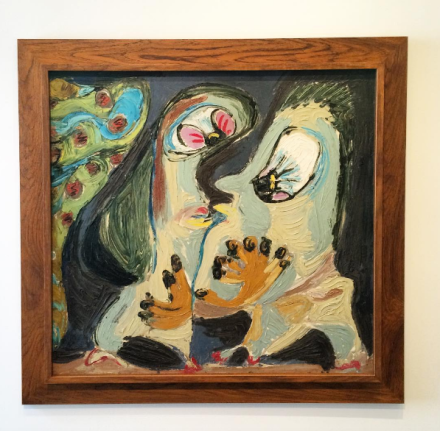 Asger Jorn, Couple amoreux interplanétaire (1954), via Art Observed