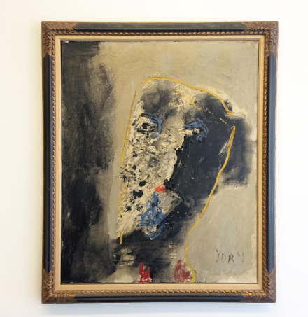 Asger Jorn, Portrait of Odilon Redon (1958), via Art Observed