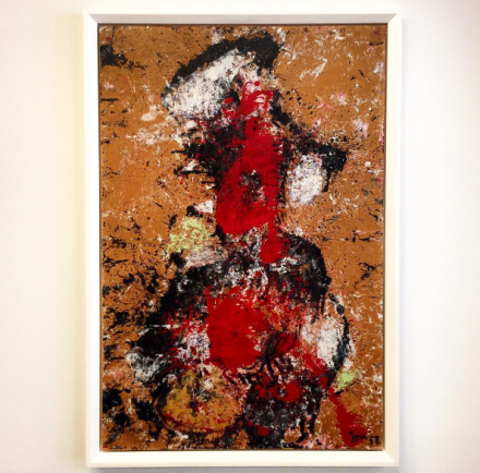 Asger Jorn, Portrait Signora Albissola (1957), via Art Observed