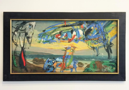 Asger Jorn, Le Hollandais Volant (1959), via Art Observed