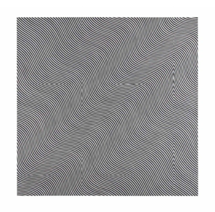 Bridget Riley, Untitled (Diagonal Curve) (1966), via Christie's
