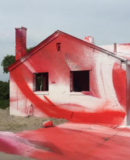 Katharina Grosse's Rockaway! Installation at Fort Tilden, via Rae Wang for Art Observed