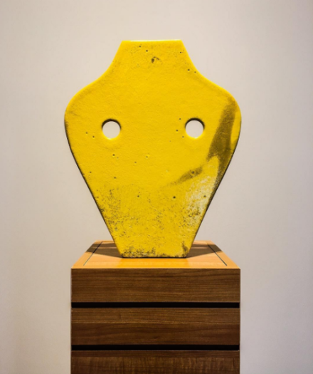 Pia Camil, Bust Mask Sulphur (2016), via Art Observed