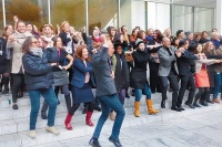 MoMA Staff Dancing, via Art Newspaper