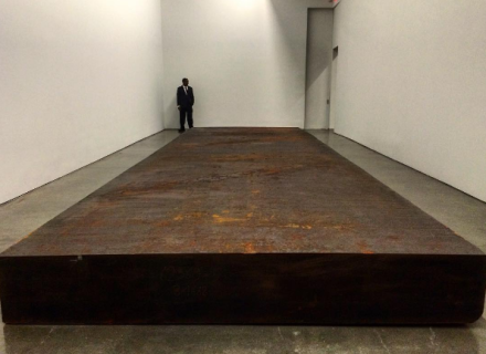 Richard Serra, Silence (for John Cage) (2015), via Art Observed