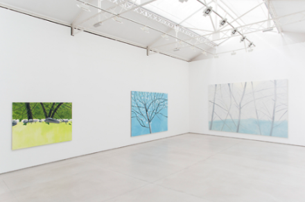 Alex Katz, New Landsacpes (Installation View), via Thaddaeus Ropac