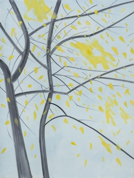 Alex Katz, Fall (2015), via Thaddaeus Ropac