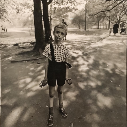 Diane Arbus, Child with a toy hand grenade in Central Park, N.Y.C. (1962), via Art Observed