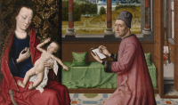 Dieric Bouts' St Luke Drawing the Virgin and Child, via The Guardian