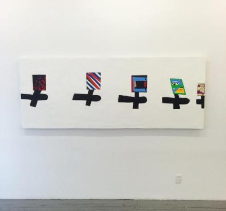 Sadie Benning, Airplane Painting (2015), via Art Observed