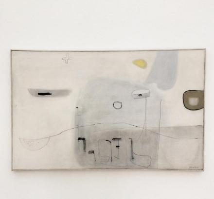 Agnes Martin, Mid-Winter (1954), via Art Observed