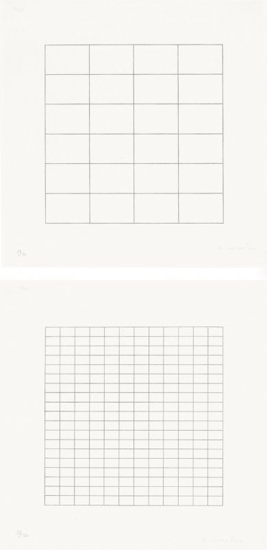 Agnes Martin, Untitled from On a Clear Day (1973), via LACMA