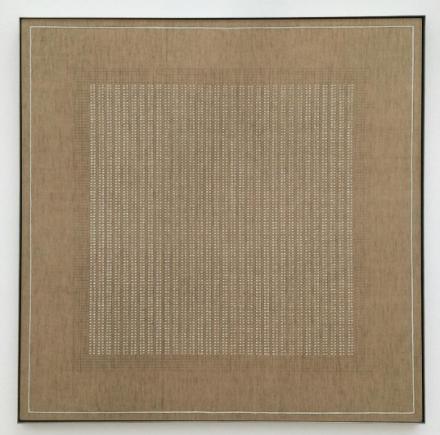Agnes Martin, The Islands (1961), via Art Observed