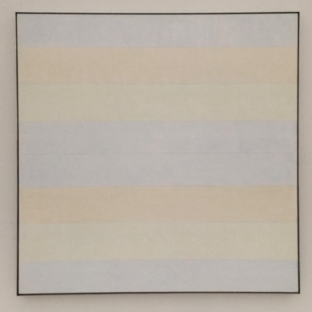 Agnes Martin, With My Back to the World (1997), via Art Observed