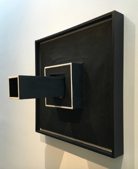 Sol LeWit, Wall Structure Black (1962), via Art Observed