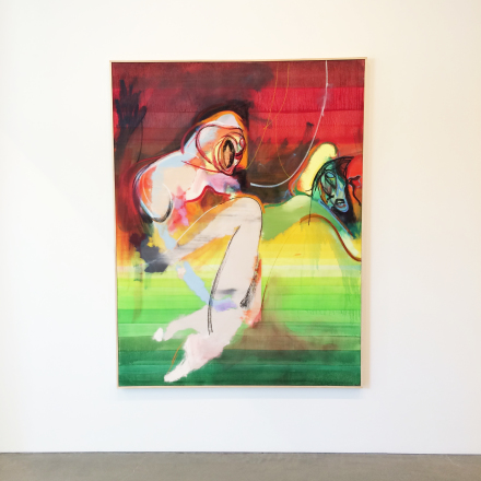 Daniel Richter, yet to come (2016), via Art Observed