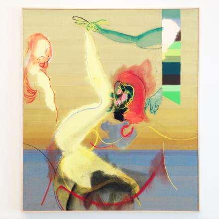 Daniel Richter, Dept (2016), via Art Observed