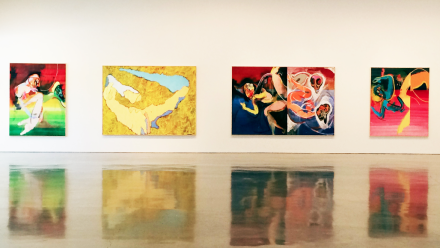 Daniel Richter, wild thing (Installation View), via Art Observed