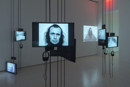 Vito Acconci, WHERE WE ARE NOW (WHO ARE WE ANYWAY?), 1976 (Installation View)